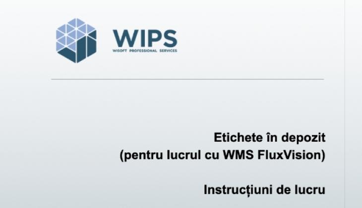 Etichete în depozit pentru lucrul cu FluxVision WMS