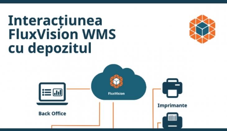 Infografic – Interacțiunea FluxVision WMS cu depozitul